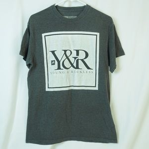 Young & Reckless Gray Logo Short Sleeve Tee